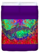 Rainbow Hammerhead Shark Duvet Cover
