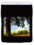 Rainbow In Pine Country Duvet Cover