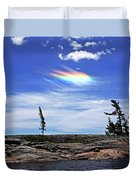 Rainbow In The Clouds Duvet Cover
