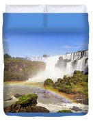 Rainbow In The Water Duvet Cover