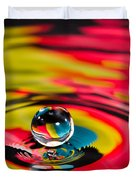 Rainbow Marble Water Drop Duvet Cover