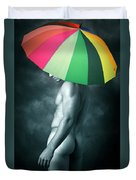 Rainbow Mike  Duvet Cover