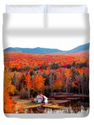 Rainbow Of Autumn Colors Duvet Cover