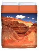 Rainbow Of Colors At The Wave Duvet Cover