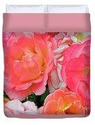 Rainbow Of Roses Duvet Cover