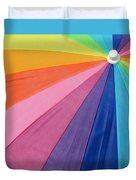Rainbow On The Beach Duvet Cover