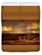 Rainbow Over Countryside Duvet Cover
