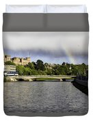 Rainbow Over Inverness Duvet Cover