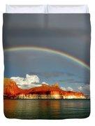 Rainbow Over Lake Powell Duvet Cover