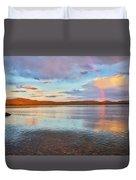 Rainbow Over Magalloway  Duvet Cover
