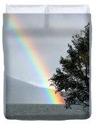 Rainbow Over Odell Duvet Cover