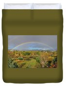Rainbow Over The Araknsas Duvet Cover