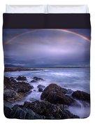 Rainbow Over The Biddeford Pool Duvet Cover