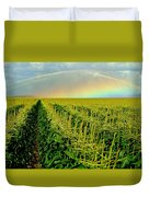 Rainbow Over The Cornfields Duvet Cover