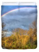 Rainbow Over The River Duvet Cover