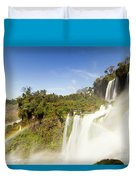 Rainbow Over The Waterfall Duvet Cover