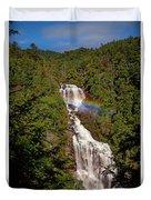 Rainbow Over Whitewater Falls Duvet Cover