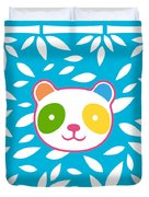 Rainbow Panda Duvet Cover