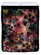 Rainbow Petals Duvet Cover