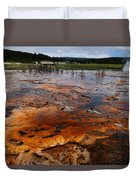 Rainbow Pool - Yellowstone Np Duvet Cover