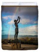 Rainbow Reach To The Sky  Duvet Cover