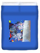 Rainbow Roller Coaster Ride By Jammer Duvet Cover
