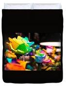 Rainbow Roses Duvet Cover