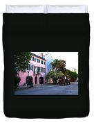 Rainbow Row Charleston Duvet Cover