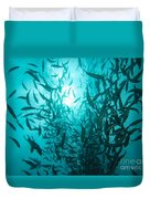 Rainbow Runners At Pohnpei Duvet Cover