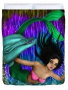 Rainbow Sea Mermaid - Fantasy Art Duvet Cover