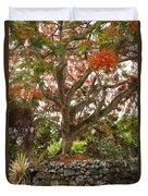Rainbow Shower Tree Duvet Cover