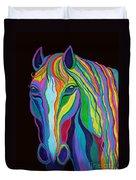Rainbow Stallion Duvet Cover