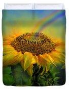 Rainbow Sunflower Duvet Cover