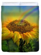 Rainbow Sunflower Duvet Cover