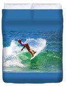 Rainbow Surf Day Duvet Cover