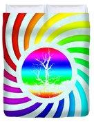 Rainbow Swirl Tree Duvet Cover