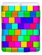 Rainbow Tiles Duvet Cover