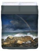 Rainbow To Heaven Shamrock Shores  Duvet Cover