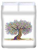 Rainbow Tree Friends  Duvet Cover