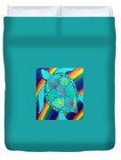 Rainbow Turtle Duvet Cover
