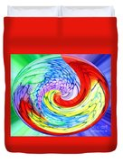 Rainbow Twirl Duvet Cover