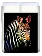 Rainbow Zebra Duvet Cover