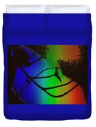Rainbows And Stary Clouds Duvet Cover