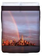 Rainbows In Nyc Duvet Cover