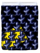 Raindance IIi - March Of The Blue People Duvet Cover