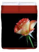 Raindrop Rose Duvet Cover by Tracy Hall