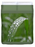Raindrops On A Blade Of Grass Duvet Cover