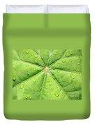 Raindrops On Leaf Duvet Cover