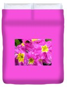 Raindrops On Pink Flowers 2 Duvet Cover by Carol Groenen