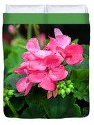 Raindrops On Pink Geranium Duvet Cover